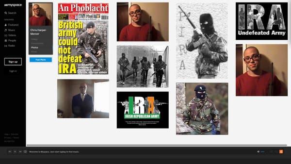 Le profil de Chris Harper Mercer montrent des photos glorifiant les armes et l'IRA.