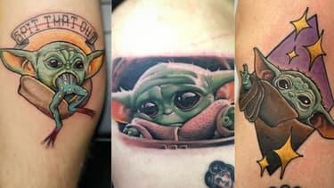 """Des tatouages à l'effigie de """"Baby Yoda"""""""