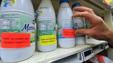 Le bras de fer entre les producteurs de lait et le géant Lactalis n'est pas terminé. (image d'illustration)