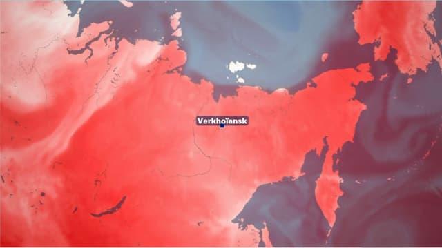 Une température de 38°C a été relevée à Verkhoïansk, en Russie, le 20 juin 2020.
