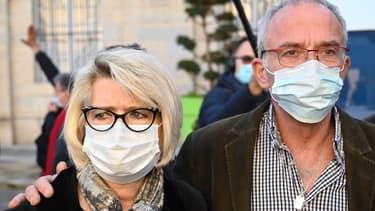Isabelle et Jean-Pierre Fouillot à leur arrivée au tribunal de Vesoul, le 18 novembre 2020.
