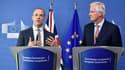 Dominic Raab, ministre du Brexit, et Michel Barnier, négociateur en chef du Brexit pour l'Union européenne