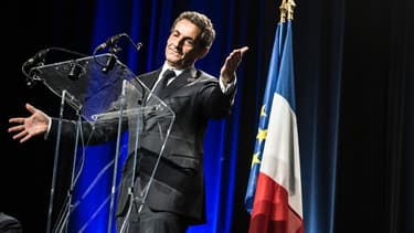 Nicolas sarkozy en meeting à Rilieux-la-Pape, le 21 mai 2015