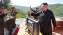Une photo du leader nord-coréen Kim Jong-un diffusée par Pyongyang le 4 juillet 2017.