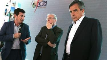 Benoît Apparu (à gauche), proche d'Alain Juppé, avec François Fillon, en septembre dernier.