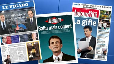 La débâcle de la gauche fait la Une de la presse, lundi 30 mars.