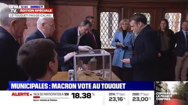 Municipales: Emmanuel et Brigitte Macron ont voté au Touquet