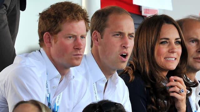 Harry, William et Kate le 28 juillet 2014