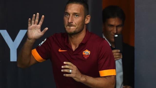 Francesco Totti et Rudi Garcia