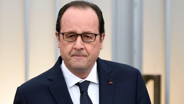 François Hollande le 27 janvier 2015 au Mémorial de la Shoah.