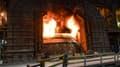 Un fourneau dans une usine de métallurgie (illustration).
