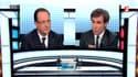 François Hollande face à David Pujadas sur France 2 jeudi soir.