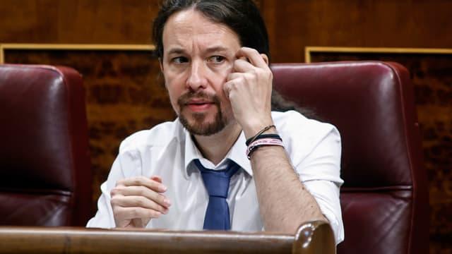 Pablo Iglesias au Parlement d'Espagne, en juin 2017.