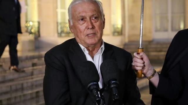 Jean-François Delfraissy à sa sortie de l'Elysée le 5 mars 2020