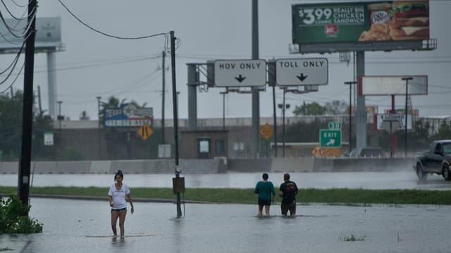 A Galveston, au Texas, le 27 août.