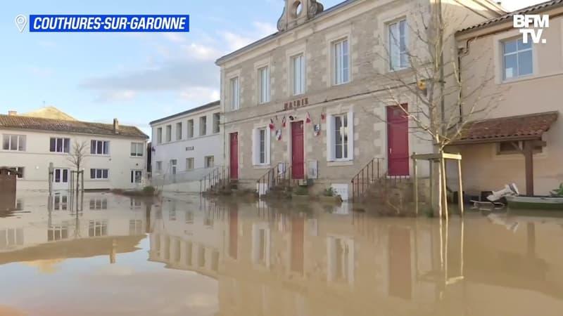 Les images du village de Couthures-sur-Garonne complètement sous les eaux