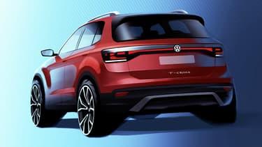 Volkswagen dévoile ce mardi la première esquisse de la version de série du T-Cross, ce modèle qui doit concurrencer le Captur.