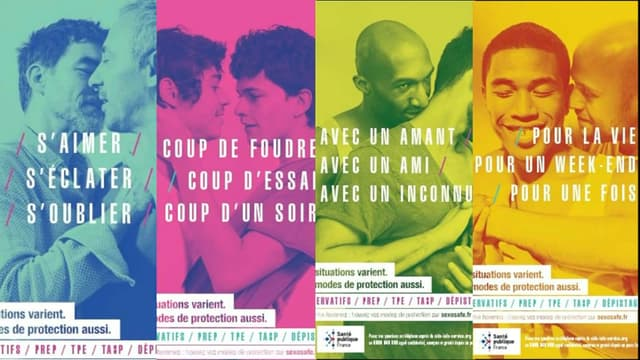 Ces affiches de prévention contre le sida font polémique dans plusieurs villes.