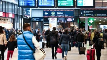 A la gare Montparnasse à Paris le 3 avril 2021