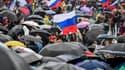 Les manifestants à Moscou.