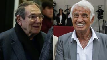 Robert Hossein et Jean-Paul Belmondo.