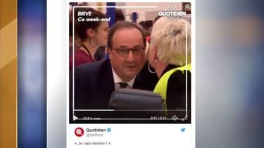 François Hollande ce week-end à Brive.