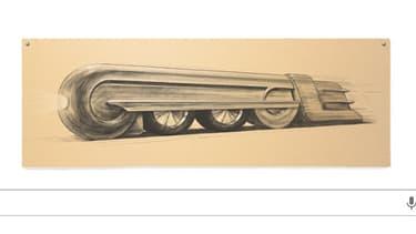 Le doodle du jour rend hommage au designer Raymond Loewy.