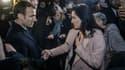 Emmanuel Macron a rencontré la femme d'Yvan Colonna lors de son déplacement en Corse le 6 février 2018.