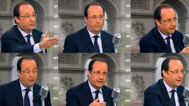 François Hollande, le 6 mai, sur BFMTV et RMC.