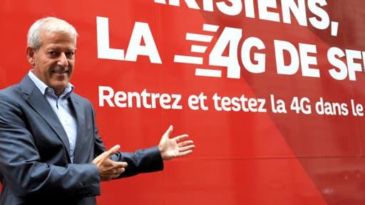 Franck Cadoret, le directeur exécutif Grand Pubic de SFR, lors de la présentation de leur offre 4G le 23 septembre.