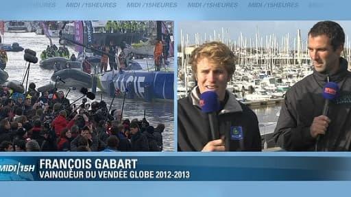François Gabart et Armel Le Cleac'h étaient les invités de BFMTV lundi 28 janvier
