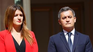 Marlène Schiappa et Gérald Darmanin, le 7 juillet 2020.