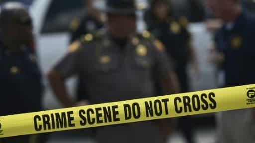 Périmètre de sécurité après une fusillade dans un nightclub gay à Orlando, en Floride le 22 juin 2016
