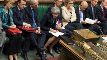 La première ministre britannique Theresa May à la Chambre des Communes le 3 avril 2019.