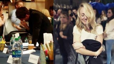 John Galecki et Kaley Cuoco en larmes sur le tournage du Big Bang Theory