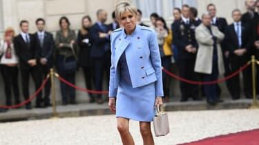 Brigitte Macron à l'Elysée, le 14 mai 2017