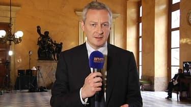 Le député UMP Bruno Le Maire mardi à l'Assemblée nationale