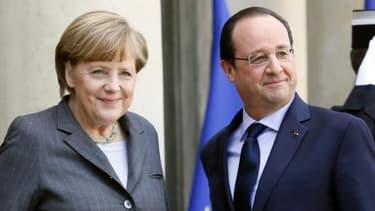Angela Merkel et François Hollande, ce mercredi 19 février.