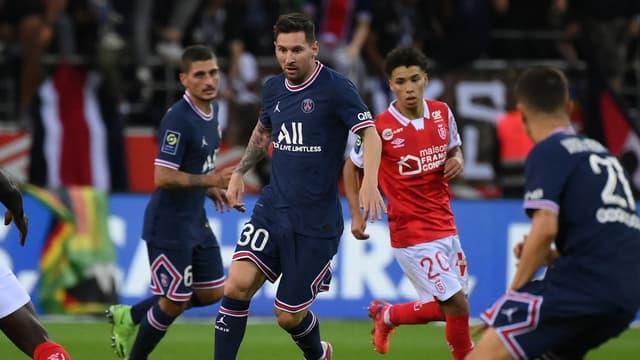 Messi pour son premier match avec le PSG, à Reims