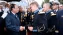 """François Hollande lors d'une réception en l'honneur des troupes françaises au ministère de la Défense, à la veille du 14-Juillet. Happé par un agenda international chargé depuis son entrée en fonction, le président de la République va """"revenir vers les Fr"""