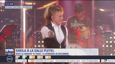Scène sur Seine: L'interview de Sheila, à la salle Pleyel pour le 28 décembre