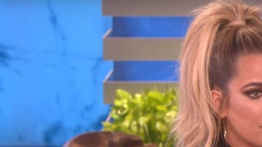 Khloé Kardashian sur le plateau de l'émission d'Ellen DeGeneres le 11 octobre 2016