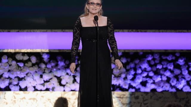 Carrie Fisher, le 25 janvier 2015