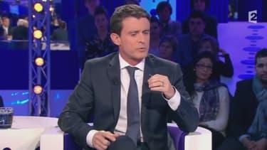 Manuel Valls sur le plateau de On n'est pas couché samedi 16 janvier