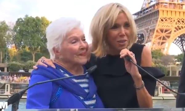 Line Renaud et Brigitte Macron
