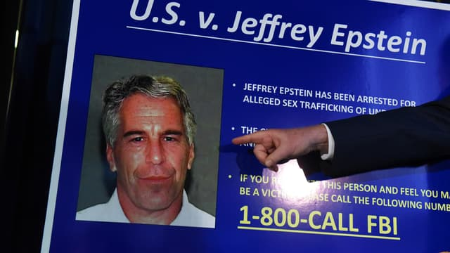 Lors de l'annonce des charges retenues contre Jeffrey Epstein, en juillet 2019.