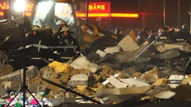 Le supermarché dont le toit s'est effondré datait de 2011.