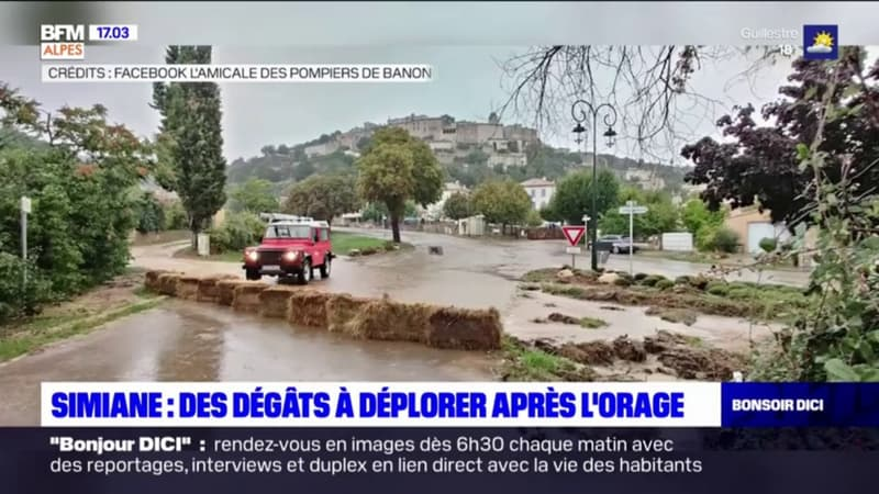 Simiane-la-Rotonde: des dégâts à déplorer après l'orage de dimanche