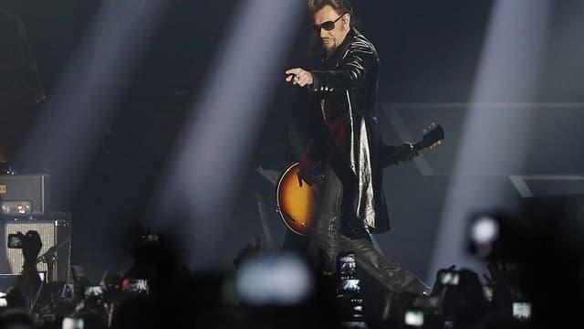 Johnny Hallyday en concert à Bercy en 2015.