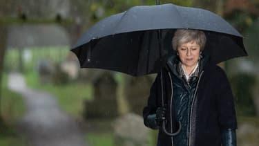 La Première ministre britannique Theresa May le 9 décembre 2018 dans sa circonscription près de Londres.